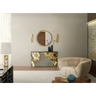Nha Gold Plated Brushed Brass Wall Lamp