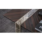 Berna Coffee Table With Metal & Marble Insert