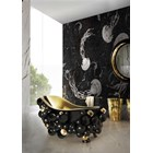 Brass And Gold Plated Black High Gloss Bubbles Bathtub