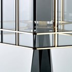 Tinted Glass & Satin Gold Finish Budelli Table Lamp
