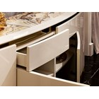 Calabria Stainless Steel Lacquered Marble Italian Sideboard