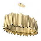 Chamber Gold Plated Brass Suspension Lamp