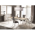 Champagne Silver Leaf Scolpito Luxury Chair