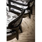 Chanter Upholstered Black Lacquered Oval Back Low Chair