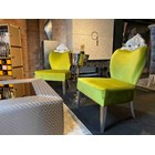Ex-Display Magnus Green Velvet & Silver Leaf Occasional Chair