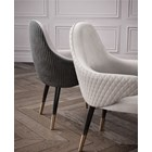 The Conchita Quilted Dining Chair With Armrest