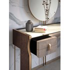 Upholstered Leather Italian Daza Console Table