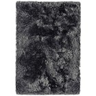 Deep luxurious slate shaggy rug