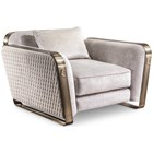 Diamond Stitched Italian Armchair with Bronze Detailing