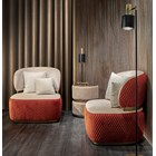Ditri Italian Armchair With Metal Base