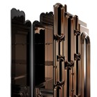 Elliptical Bronze Mirrored Bar Cabinet