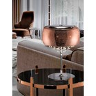 Shimmered Copper Glass Emilia Table Lamp