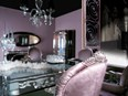 Pewter and lilac dining armchair