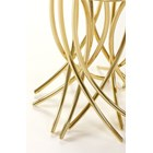 Freedom Feeling Carved High Gloss Small Side Table With Brass Legs