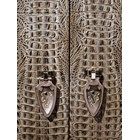 Glamour Embossed Leather Upholstered Italian Cabinet