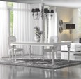 Classico Collection Luxury Upholstered White Dining Chair