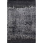 Grey New Zealand Wool And Viscose Textured Rug