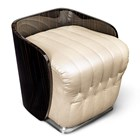 Halo Lacquered Upholstered Italian Chair Pouffe