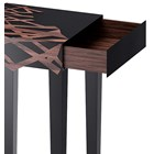 Hilton Satinwood, Ironwood, Caviuna & Piano Black Lacquered Display Stand