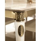 Italian Horn Lacquered Marble Dining Table