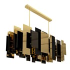 Huojin Gold Plated Brass & Lacquered Suspension Lamp