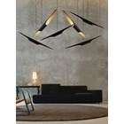 Jazz Gold Plated & Matte Black Suspension Light