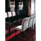 Louvre Carved Wood Black Lacquer Dining Table