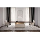 Lucille Dining Table With Base Upholstered Leather