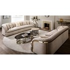 Luxury Quilted Metal Belt Sofa