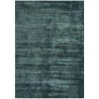 Luxury silky smooth deep pile petrol rug