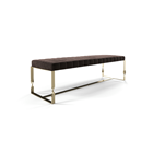 Luxury Upholstered Stainless Steel Bench