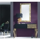 Luxus Carved Rectangle Gold Leaf Framed Mirror Small