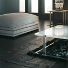 White Marble And Silver Steel Square Coffee Table