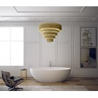 Marquis Gold Plated Brass Tiered Chandelier