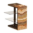 Brushed Brass & Marble Maximo Side Table