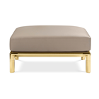 Meera Polished Brass Sofa Without Armrest