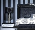 Luxus Carved Black and Silver Leaf Low Bedside Table