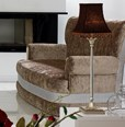 Magnus White And Silver Leaf Living Room Set Collection