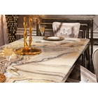 Messina Stainless Steel & Marble Italian Dining Table