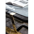 High Gloss Mirta Bevelled Marble Coffee Table
