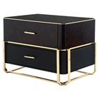 Monticello Walnut Root & Golden Brass Nightstand