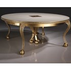 Mother of Pearl Gold Leaf Round Table