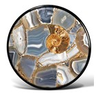 Natural Agate Round Italian Side Table
