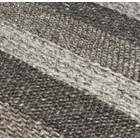 Natural Wool And Viscose Earth Stripe Rug