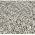 Natural Wool And Viscose Cream Stripe Rug