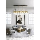 Niagara Gold Plated Brass & Crystal Glass Chandelier