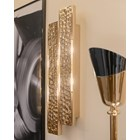 Hammered Gold Plated Brass Double Obidos Wall Lamp