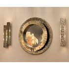 Hammered Gold Plated Brass Obidos Wall Lamp