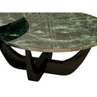 Obsidian Emerald Marble & High Gloss Lacquered Round Centre Table