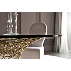 Omega Luxury Dining Table with Golden Champagne Base